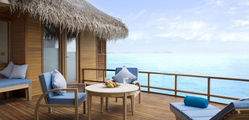 Anantara resort spa maldives sunset over water suite terrace